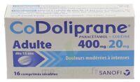 Codoliprane Adultes 400 Mg/20 Mg, Comprimé Sécable à Auterive