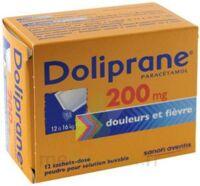 Doliprane 200 Mg Poudre Pour Solution Buvable En Sachet-dose B/12 à Auterive