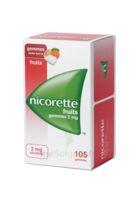 Nicorette 2 Mg Gomme à Mâcher Médicamenteuse Sans Sucre Fruits Plq/105 à Auterive