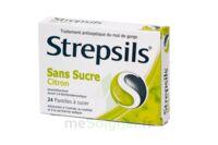 STREPSILS CITRON SANS SUCRE, pastille édulcorée à l'isomalt, au maltitol et à la saccharine sodique à Auterive