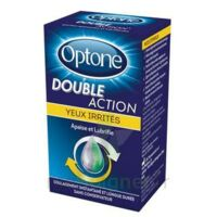 Optone Double Action Solution Oculaire Yeux Irrités Fl/10ml à Auterive