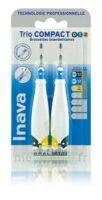 Inava Brossettes Tri Compact étroit  012 Noir 0,6mm/ Bleu 0,8mm/ Jaune 1mm à Auterive