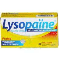 LYSOPAÏNE MAUX DE GORGE CETYLPYRIDINIUM LYSOZYME FRAISE SANS SUCRE, comprimé à sucer édulcoré au sorbitol et à la saccharine à Auterive