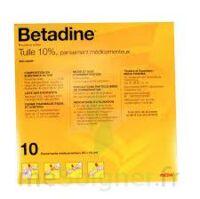 Betadine Tulle 10 % Pans Méd 10x10cm 10sach/1 à Auterive