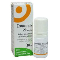 CROMABAK 20 mg/ml, collyre en solution à Auterive
