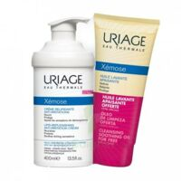 Xémose Crème relipidante anti-irritations Fl pompe/400ml + Huile lavante 200ml à Auterive