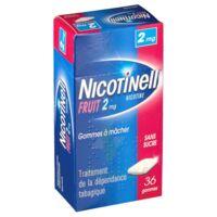 NICOTINELL FRUIT 2 mg SANS SUCRE, gomme à mâcher médicamenteuse Plaq/36gom à Auterive