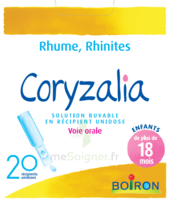 Boiron Coryzalia Solution buvable unidose B/20 à Auterive