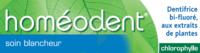 Boiron Homéodent Soin Blancheur Pâte Dentifrice Chlorophylle 2T/75ml à Auterive
