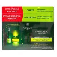 René Furterer Triphasic Progressive Sérum Antichute Coffret 8 Flacons X 5,5ml + Shampoing Stimulant 100 Ml à Auterive